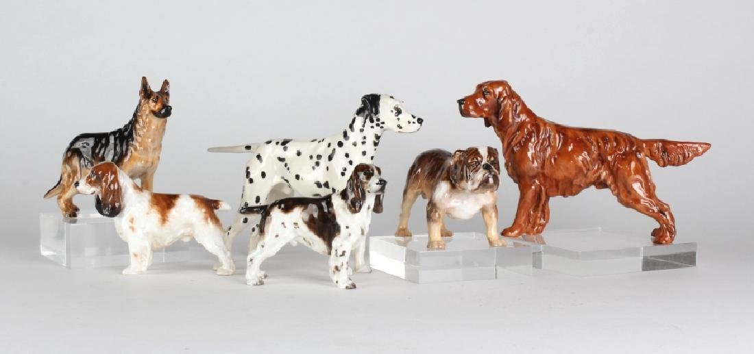 Lot of 6 Royal Doulton Porcelain Dogs Figurines