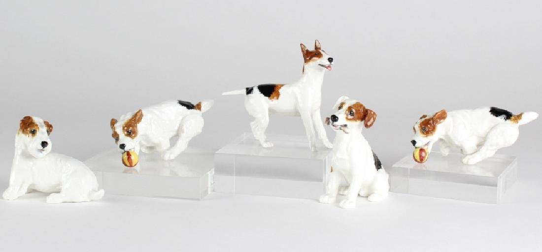 Lot 5 Royal Doulton Terrier Dog Porcelain Figurine