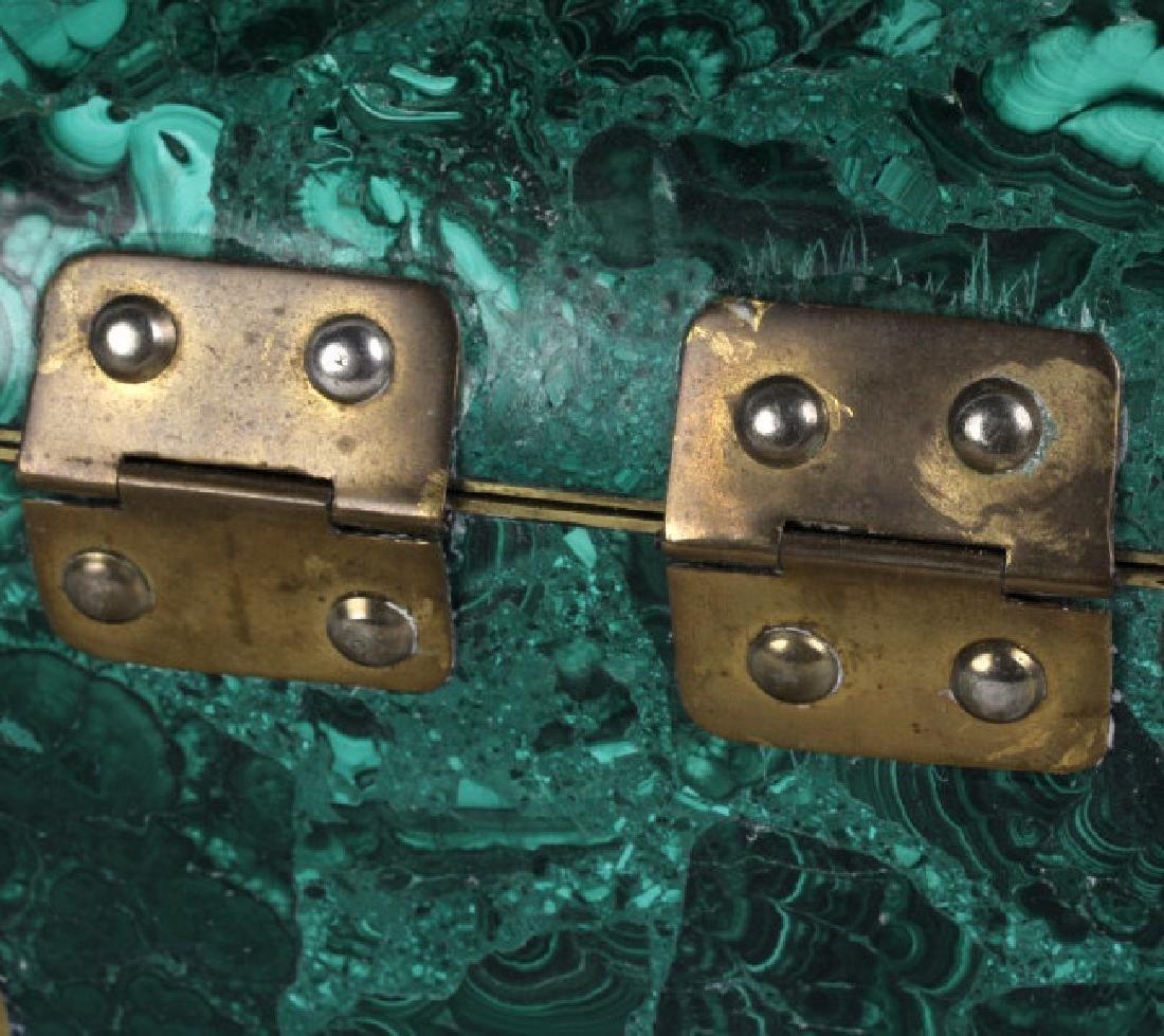 Rich Green Malachite Gemstone Treasure Chest Box - 4