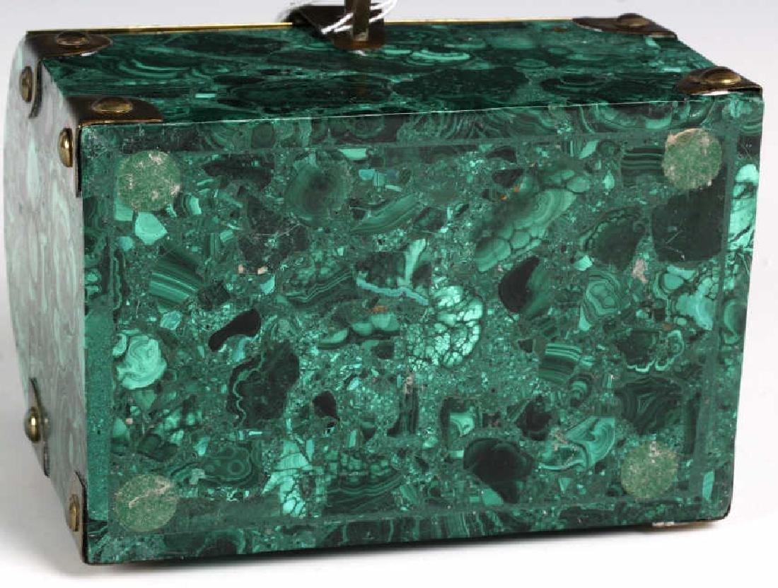 Rich Green Malachite Gemstone Treasure Chest Box - 8