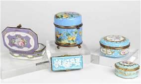 LOT 5 Hand Painted Porcelain Trinket Vanity Box