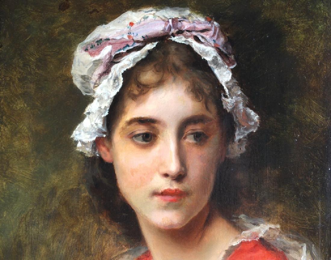 Gustave Jacquet Woman w Bonnet Portrait Painting - 3
