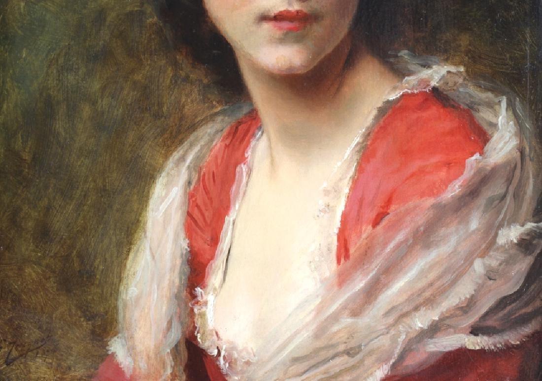 Gustave Jacquet Woman w Bonnet Portrait Painting - 4