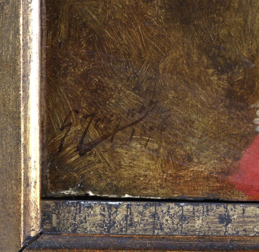 Gustave Jacquet Woman w Bonnet Portrait Painting - 5
