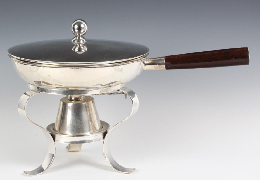 Modern Sterling Silver Chafing Dish w Stand 2,490g