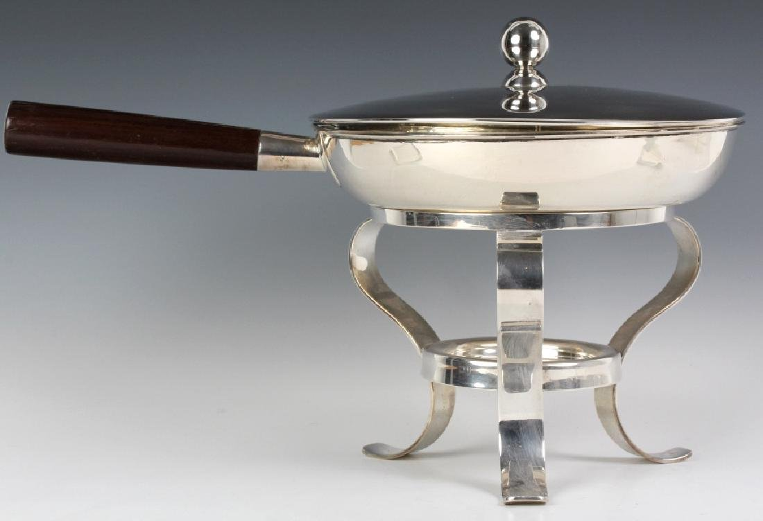 Modern Sterling Silver Chafing Dish w Stand 2,490g - 2