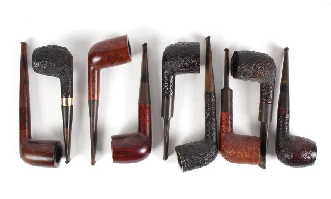 LOT of 9 Dunhill English Briar Shell Smoking Pipe