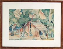 Max Herman Pechstein Watercolor Painting LISTED