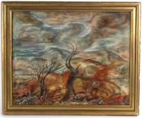 Charles Burchfield Modernist Landscape Painting