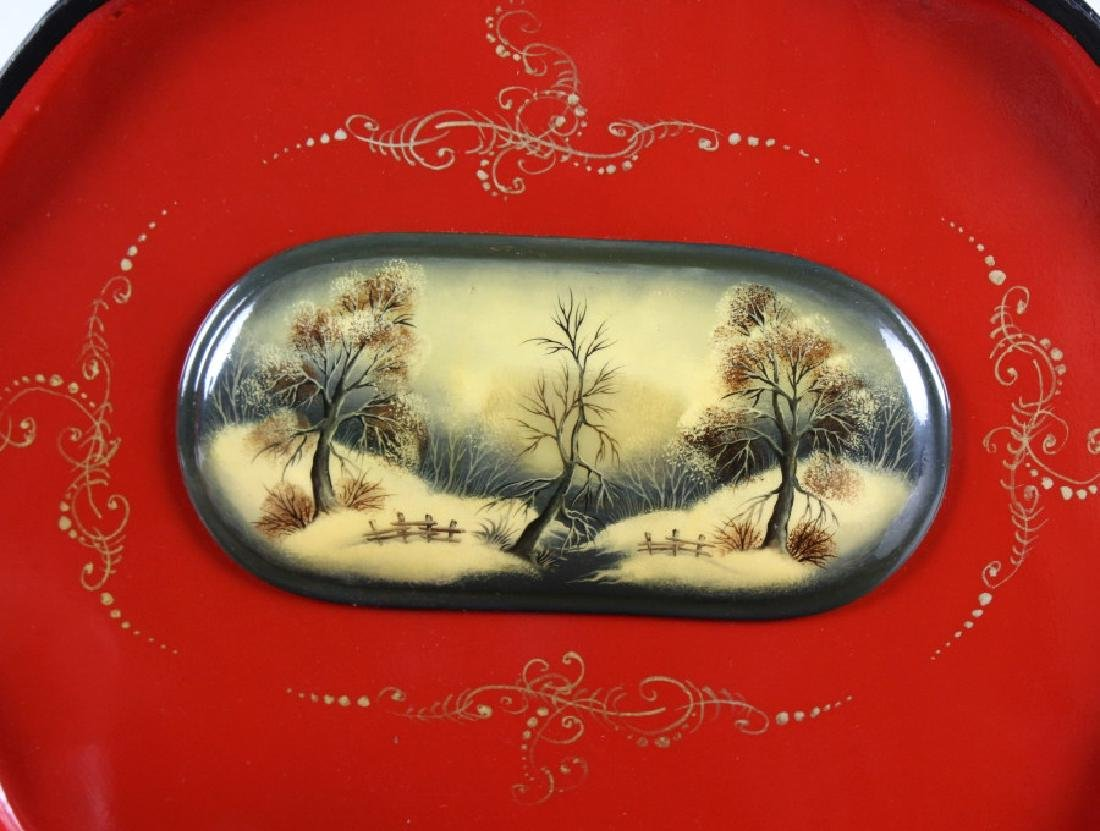 Fedoskino Russian Lacquer Shell Box Winter Scene - 4