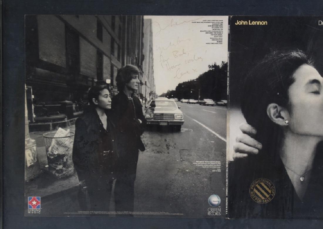 Signed John Lennon Yoko Double Fantasy Promo L/P - 3