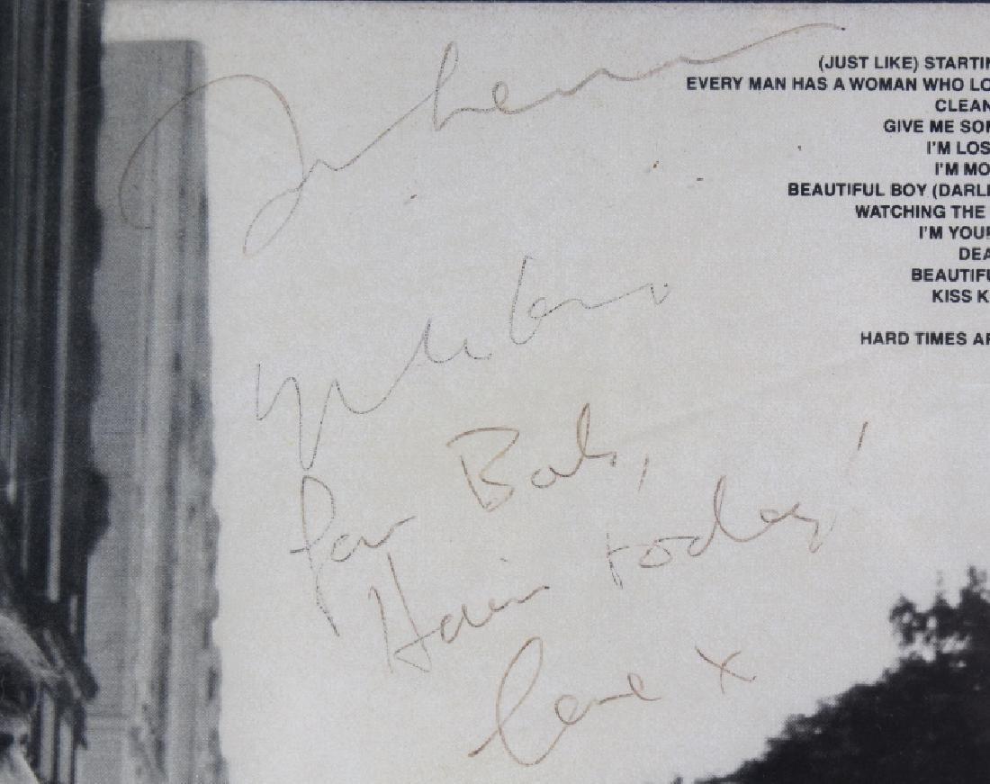 Signed John Lennon Yoko Double Fantasy Promo L/P - 4