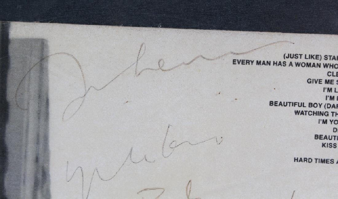 Signed John Lennon Yoko Double Fantasy Promo L/P - 5