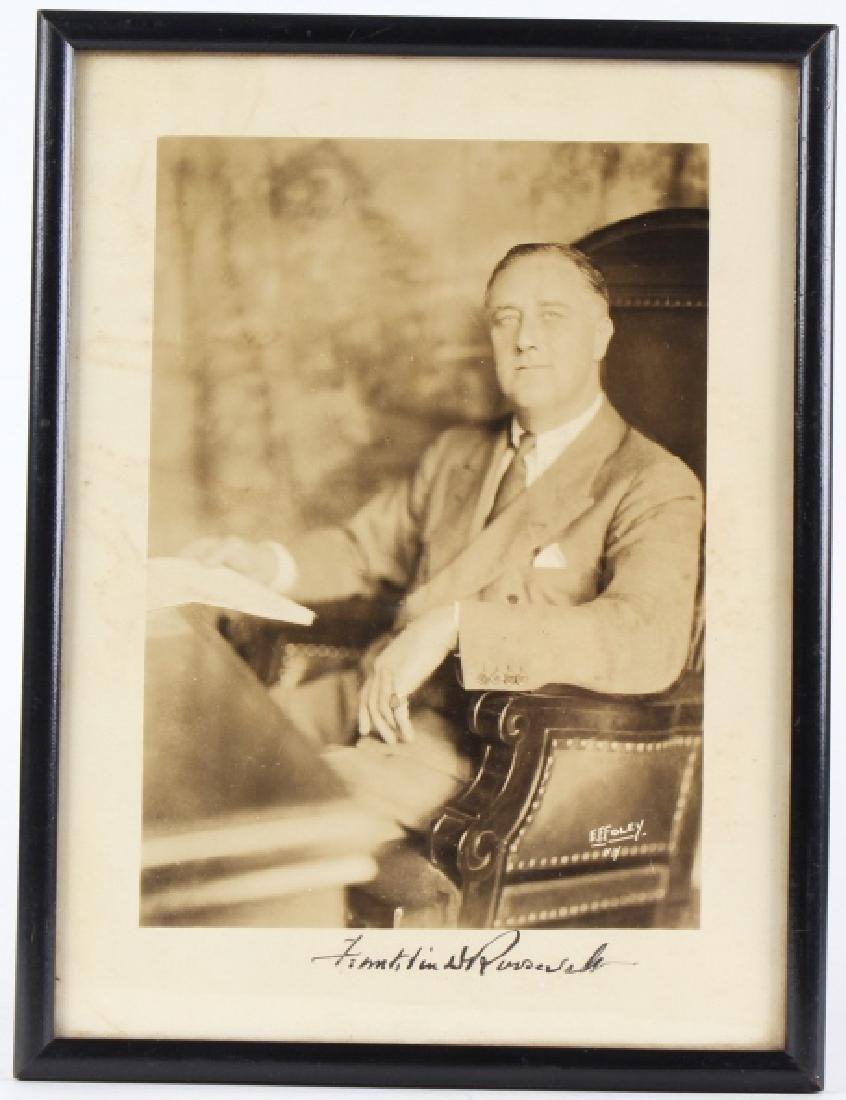 Autographed Photo Of Franklin Roosevelt, E.F Foley