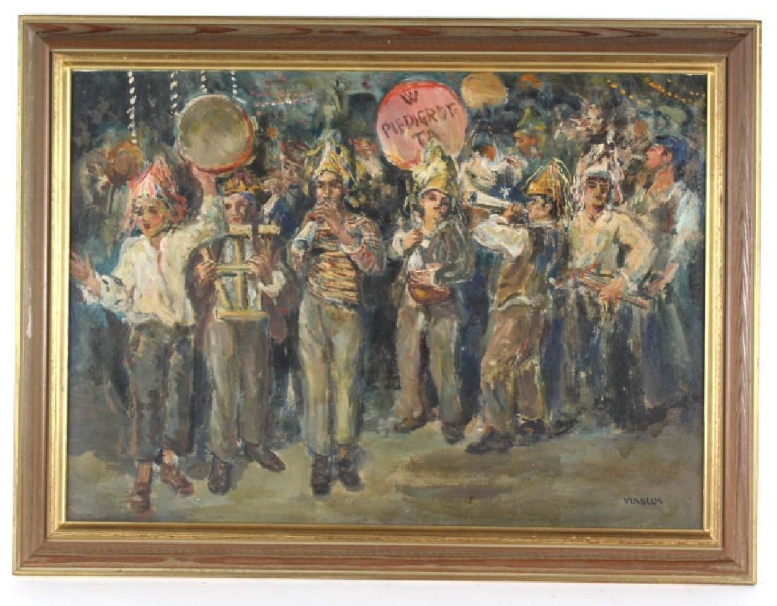 Vincenzo la Bella Childrens Band Oil Painting