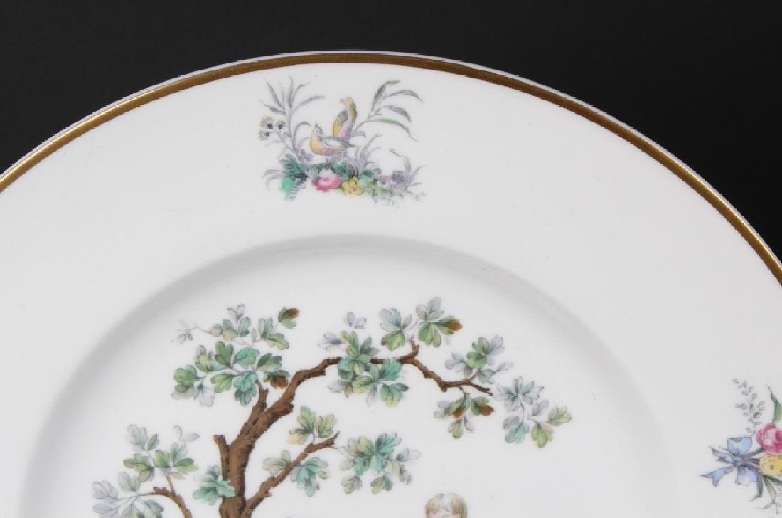 12 Royal Worcester Porcelain Watteau Dinner Plates - 4
