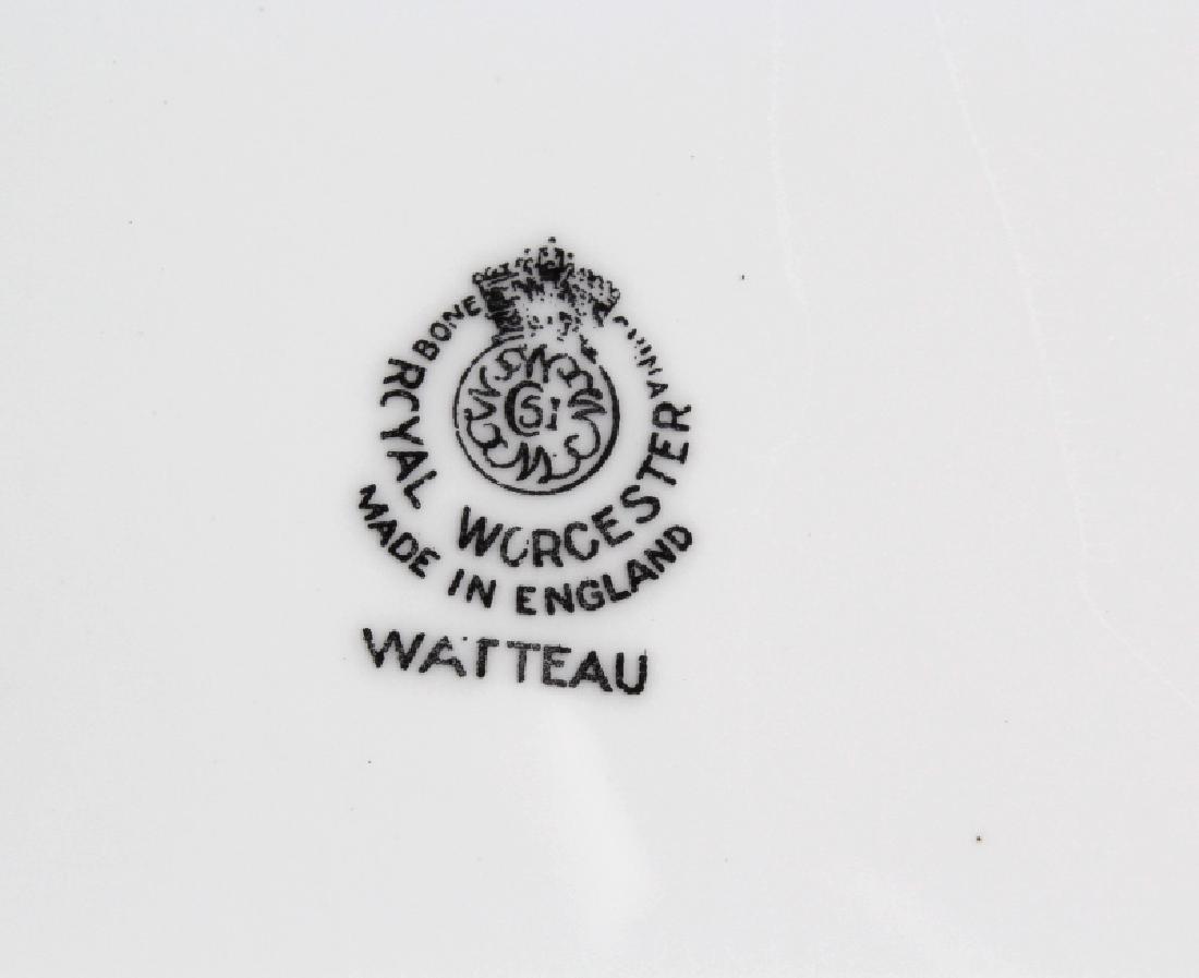 12 Royal Worcester Porcelain Watteau Dinner Plates - 6