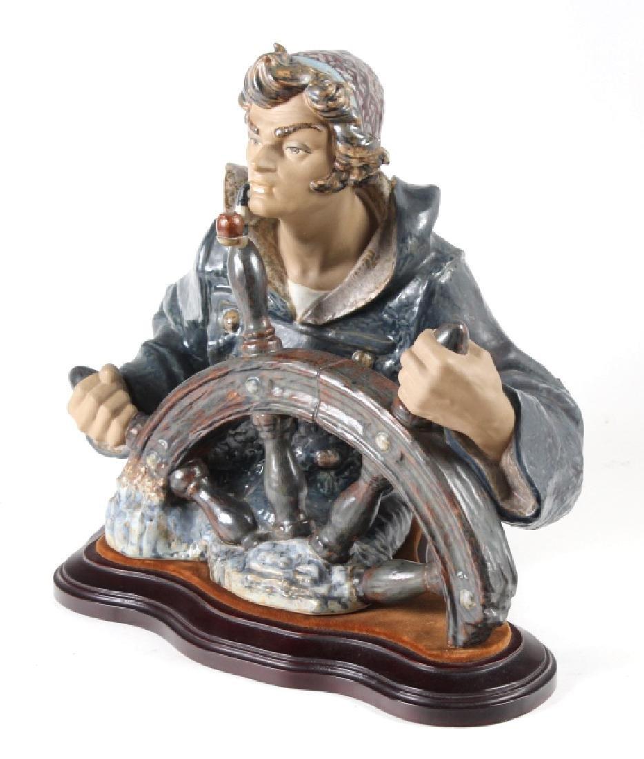 Lladro Seaman Porcelain Figurine & Stand #01011325