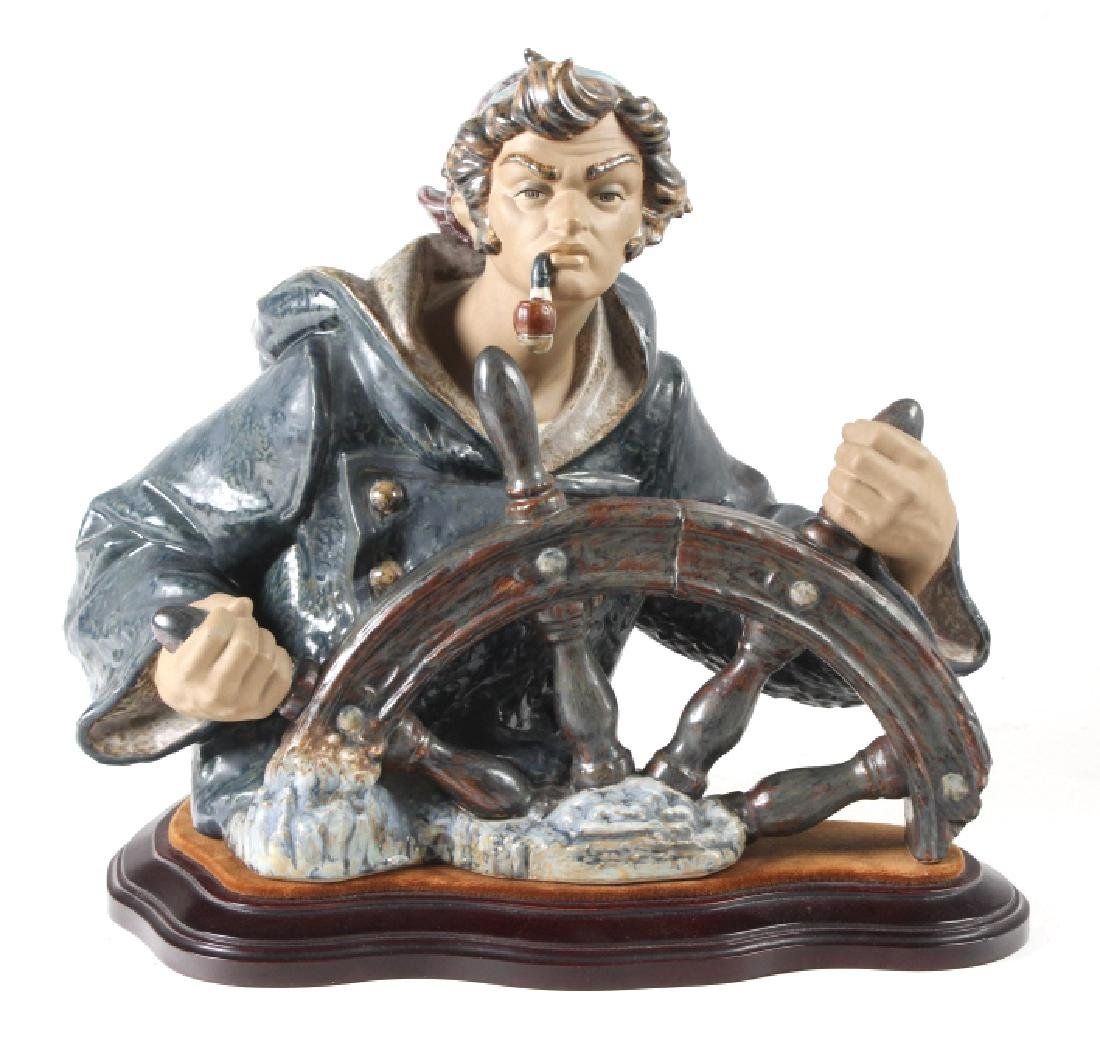 Lladro Seaman Porcelain Figurine & Stand #01011325 - 2