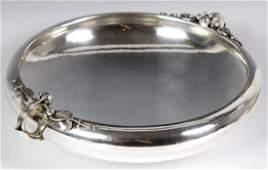 Georg Jensen Sterling Silver Centerpiece Low Bowl