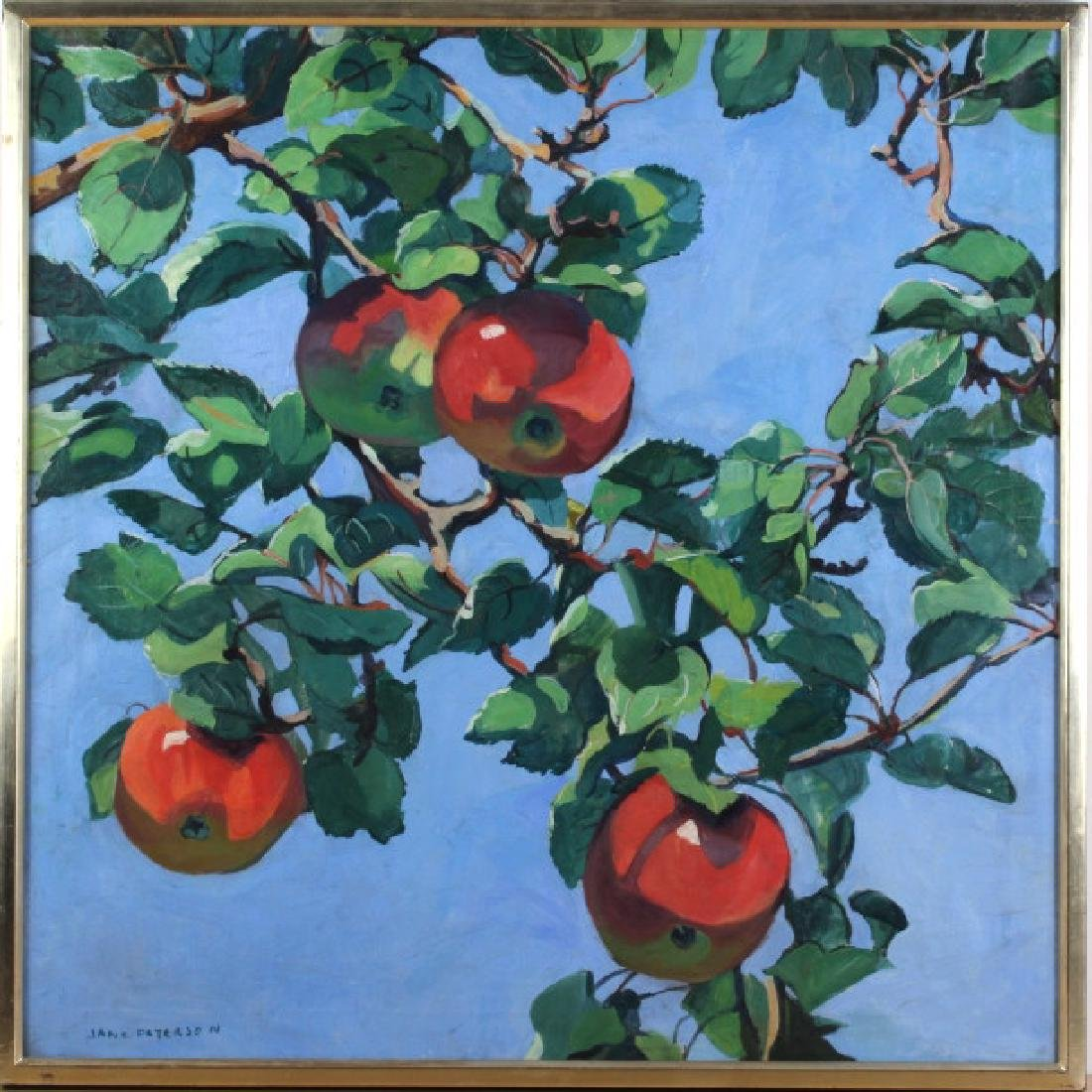 Jane Peterson Apples Tiffany Garden Oil Painting - 2