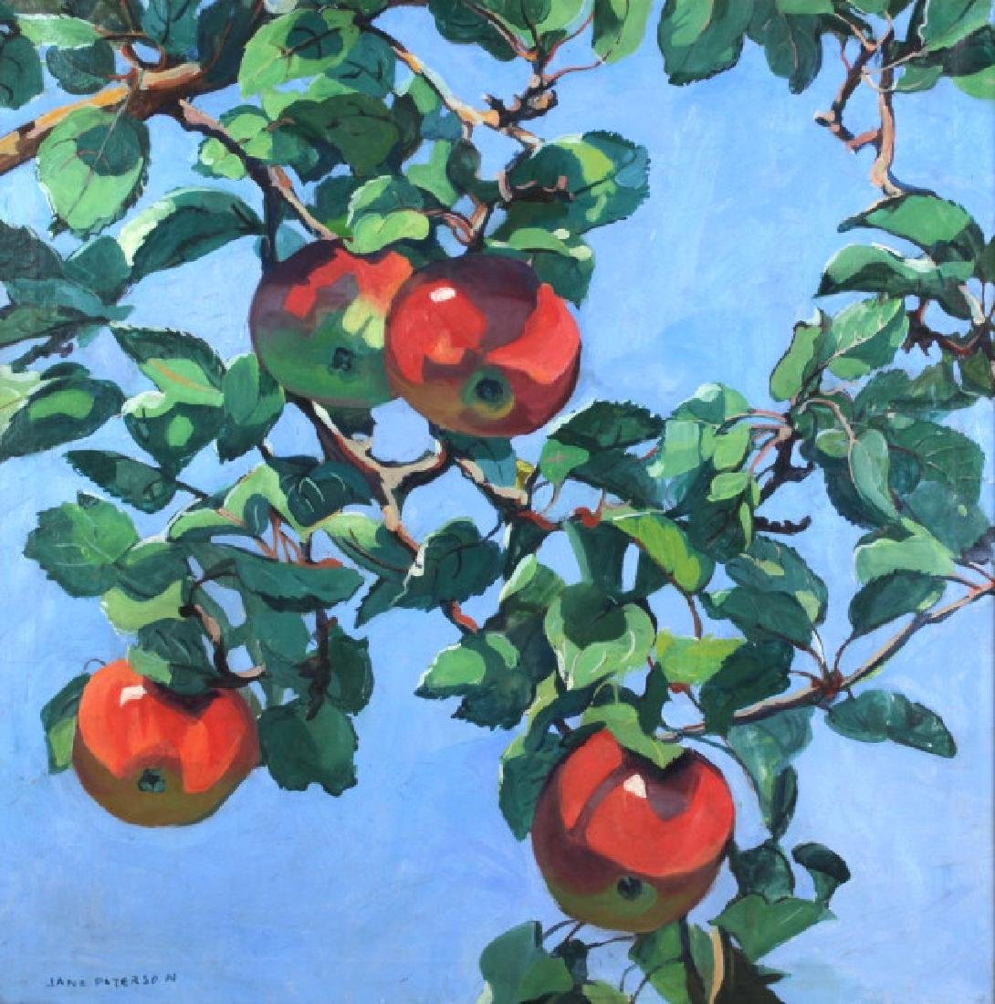 Jane Peterson Apples Tiffany Garden Oil Painting - 6
