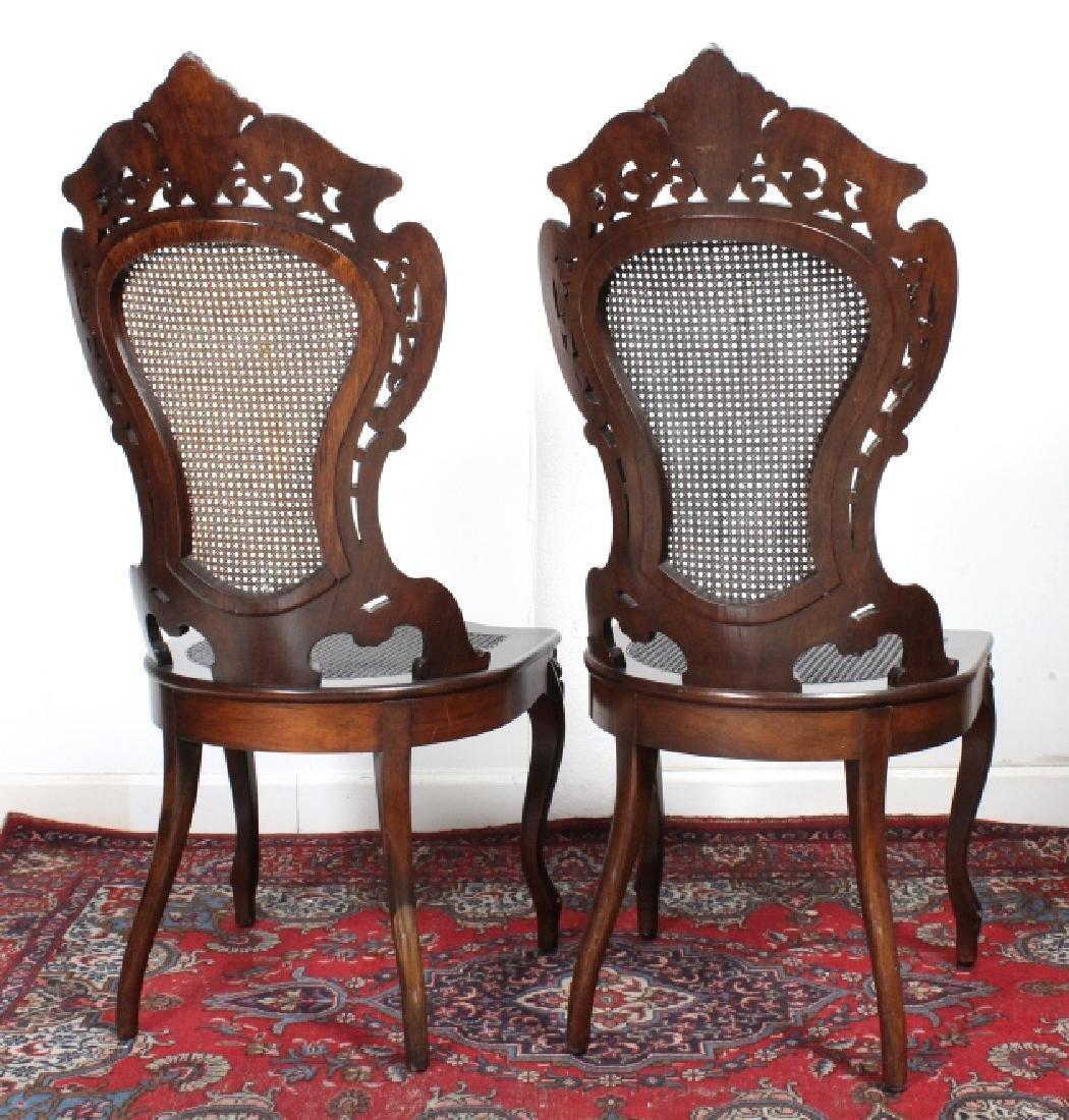 PAIR Meeks Stanton Laminated Ornate Carved Chairs - 4
