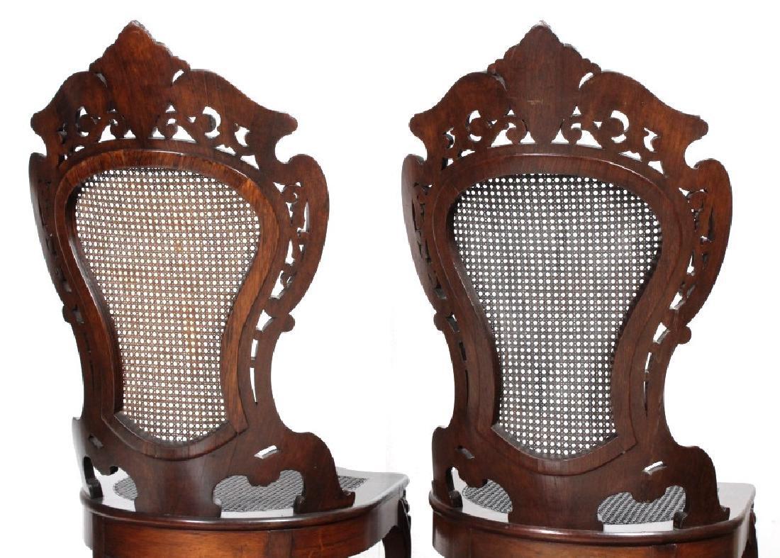 PAIR Meeks Stanton Laminated Ornate Carved Chairs - 5