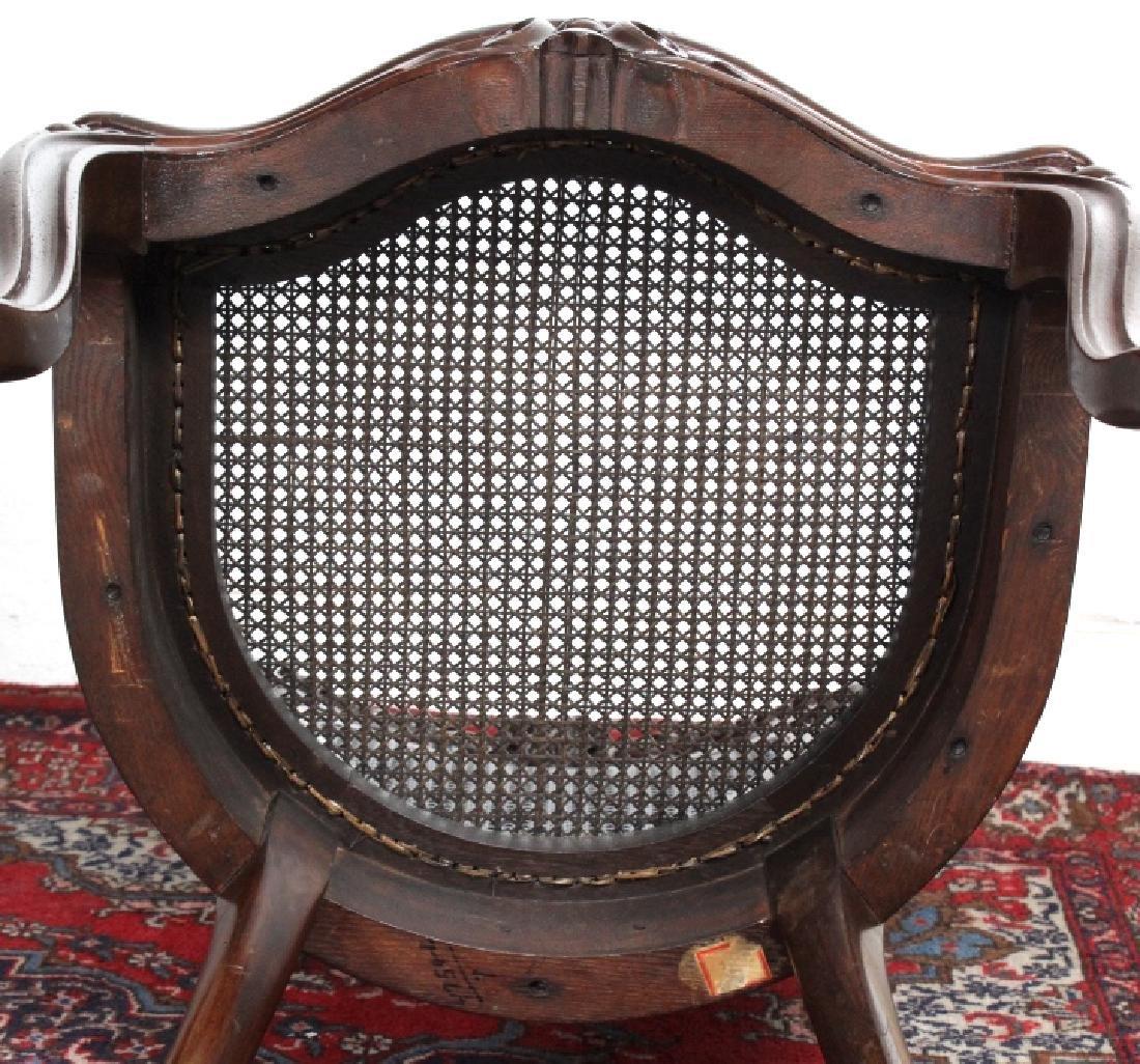 PAIR Meeks Stanton Laminated Ornate Carved Chairs - 6