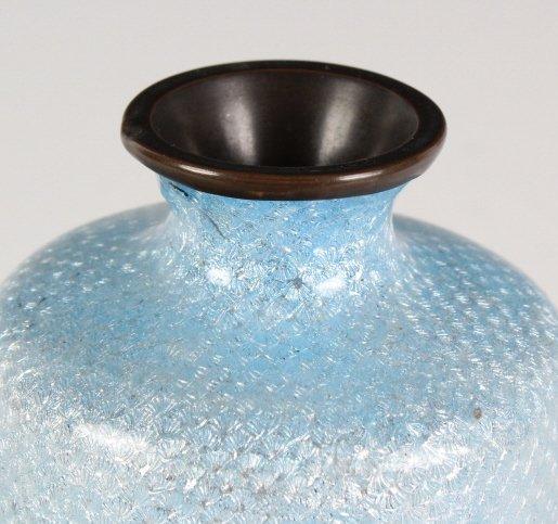 Vintage Japanese Cloisonne Enamel Floral Bud Vase - 4