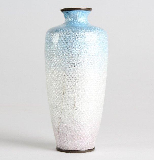 Vintage Japanese Cloisonne Enamel Floral Bud Vase - 7