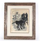 Georges Braque Horse  Chariot Lithograph SIGNED