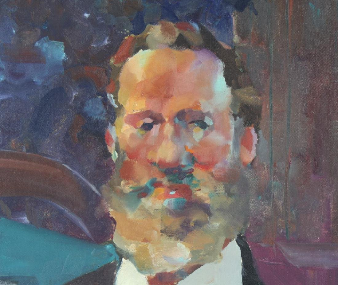 Robert Haydock Portrait of Gentleman Oil Painting - 3