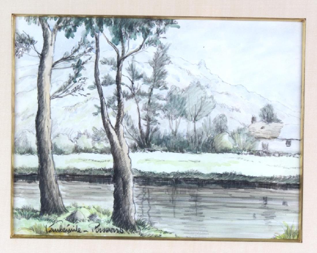 Paul Emile Pissaro Watercolor Landscape Painting