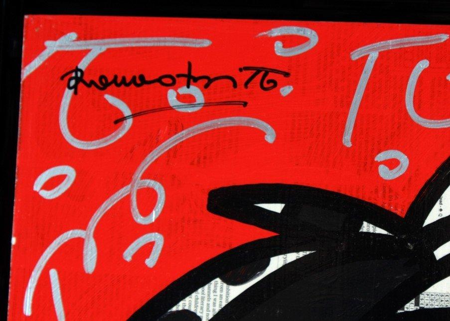 Romero BRITTO RED PRIDE Original Painting On Panel - 6