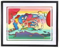 Peter Max Profiles LE of 100 Serigraph Pop Art