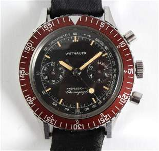 VTG Wittnauer Professional Chronograph Watch 7004A