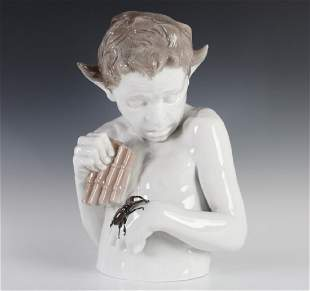 "RARE Rosenthal ""TERROR"" Porcelain Statue Figurine"