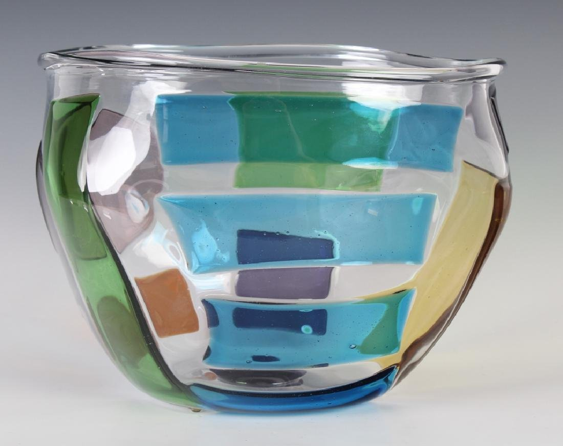 """RPM Studio SIGNED Art Glass Pezzati Bowl Vase 10"""""""