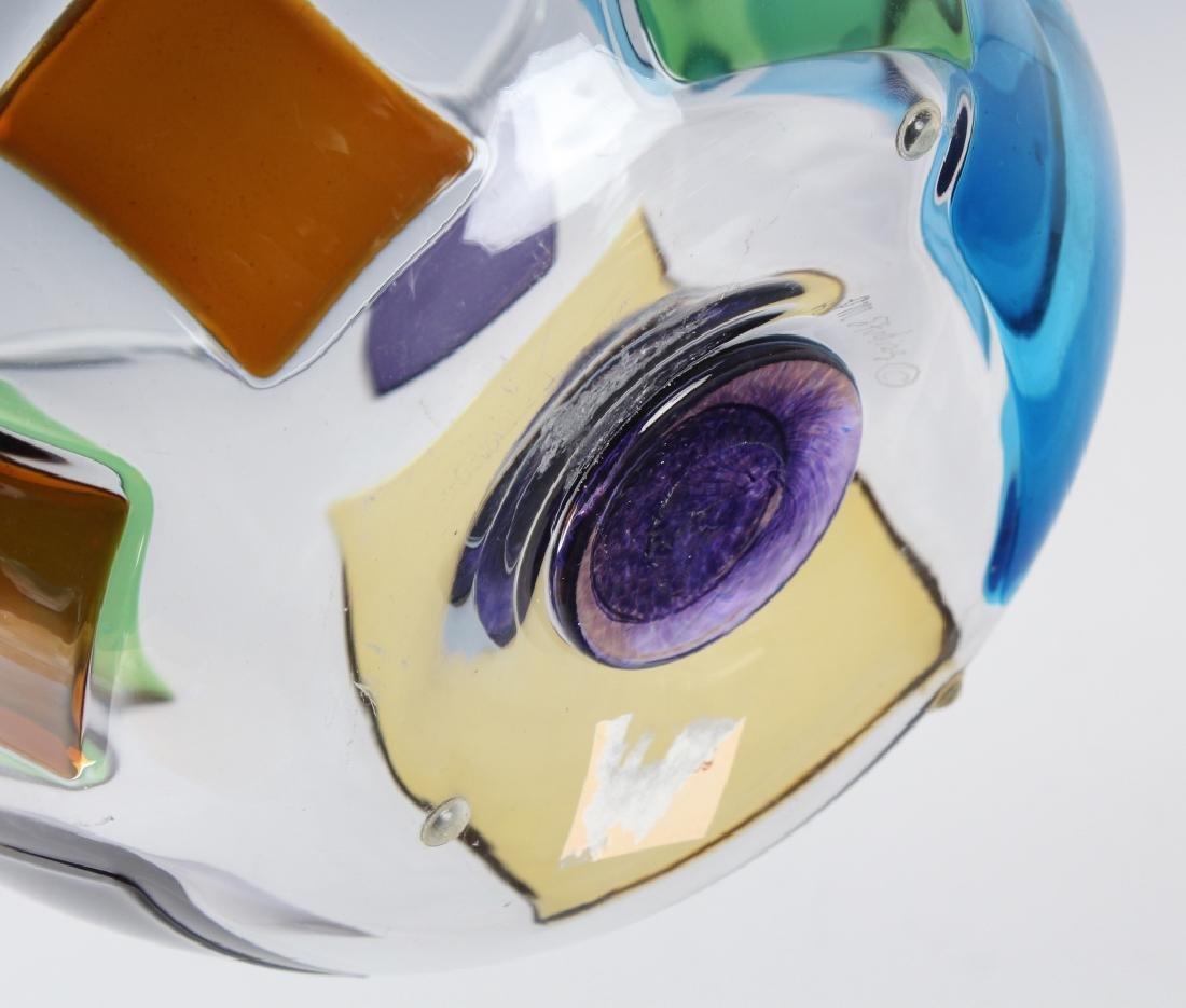 """RPM Studio SIGNED Art Glass Pezzati Bowl Vase 10"""" - 7"""