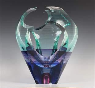 Michael David & Kit Karbler Studio Art Glass Vase