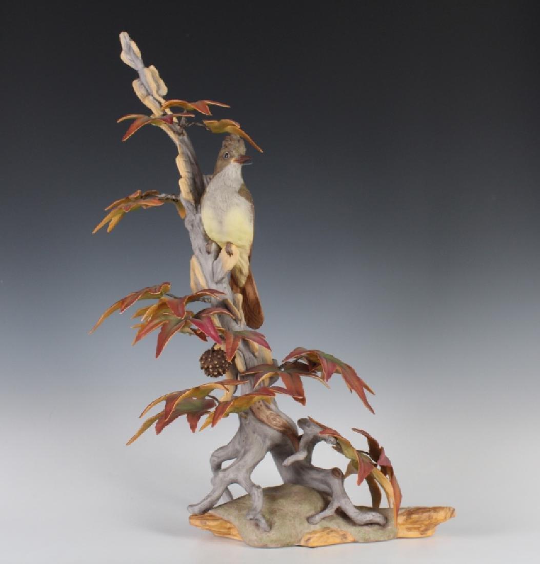 Boehm Porcelain Crested Flycatcher Bird Figurine