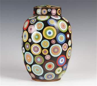 Fabienne Jouvin French DECO Rondo Cloisonne Jar