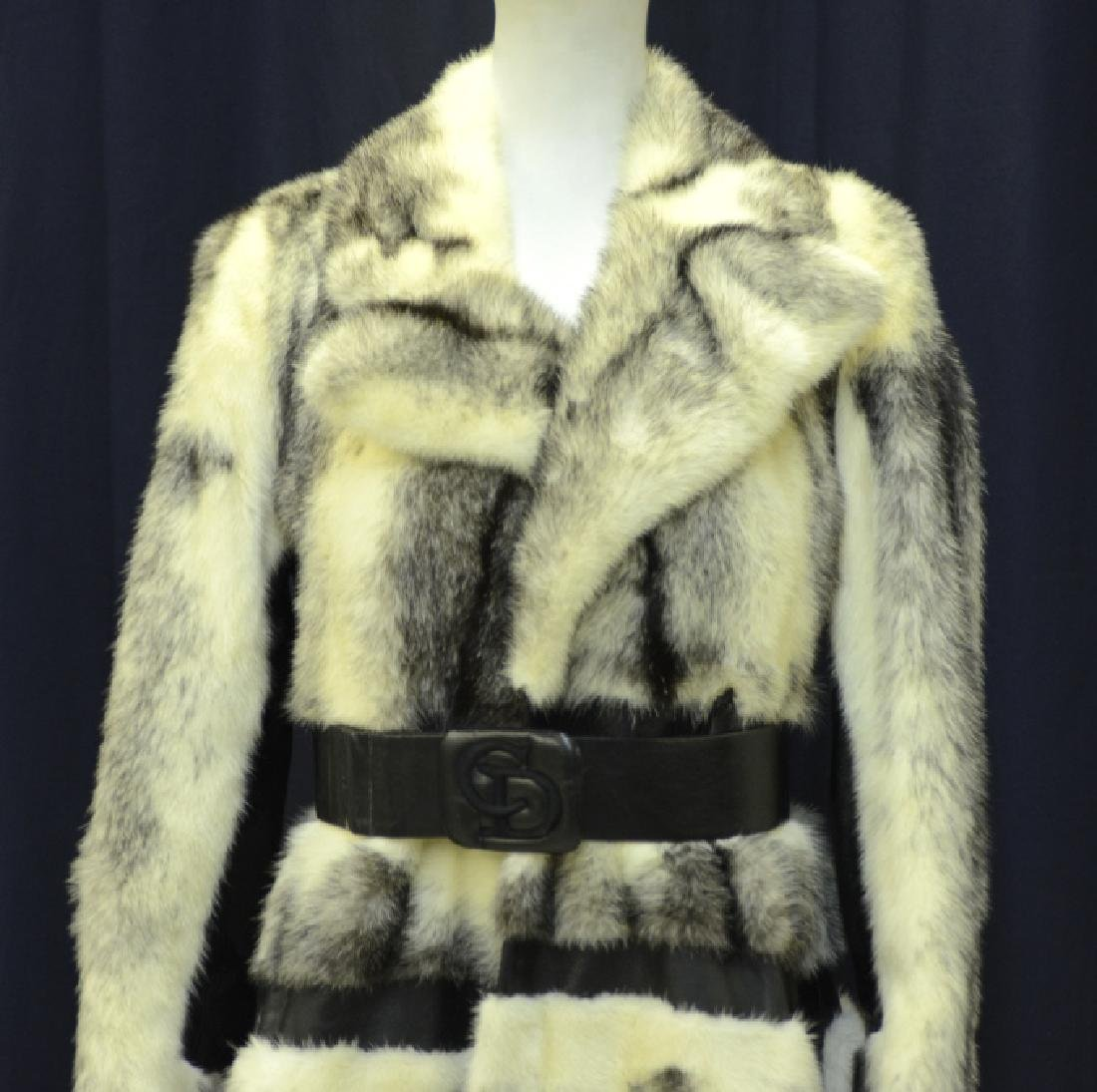 Christian Dior Fur Leather Knee High Jacket Coat - 3