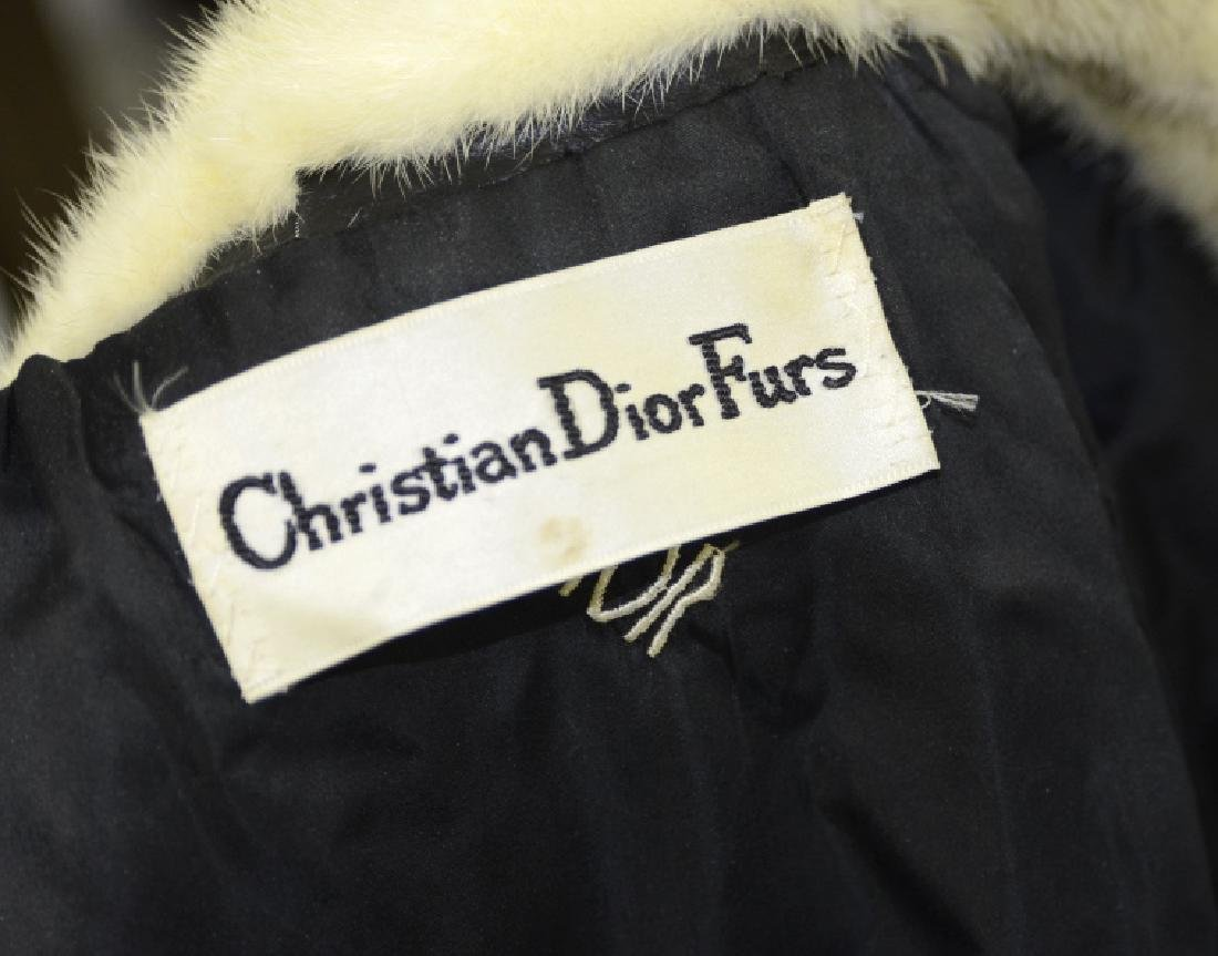Christian Dior Fur Leather Knee High Jacket Coat - 6