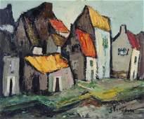 MYSTERY? Artist Signed Mid Century Modern Painting