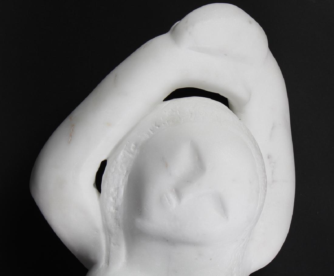 MYSTERY ? Artist Carved Marble Modernist Sculpture - 2