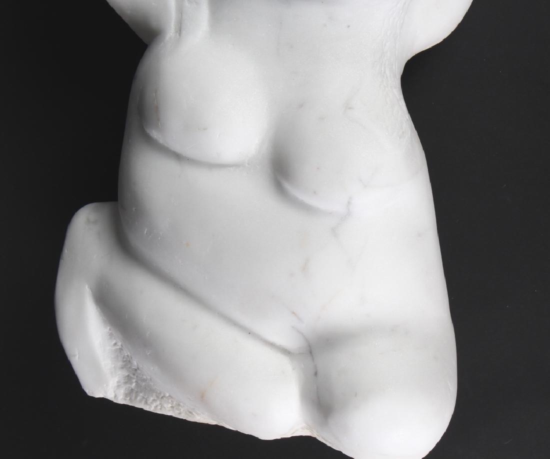 MYSTERY ? Artist Carved Marble Modernist Sculpture - 3