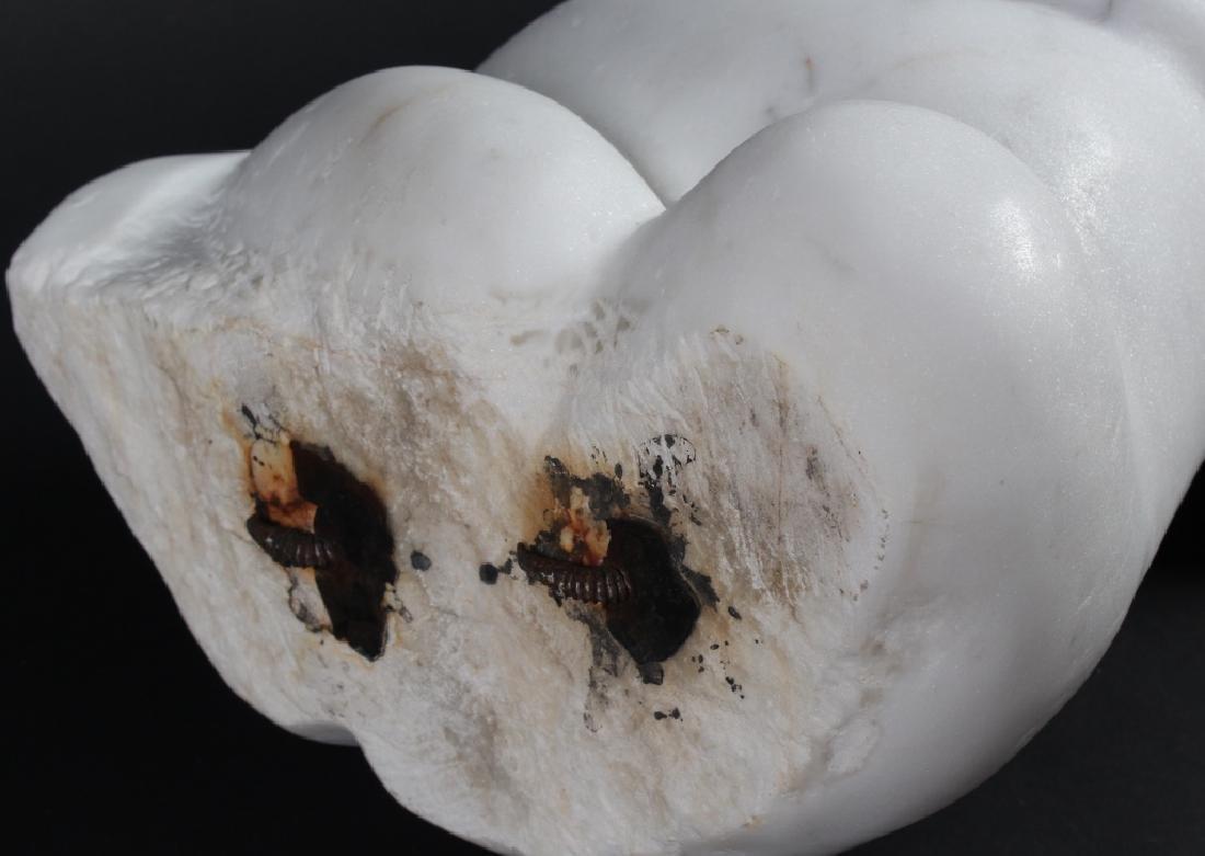 MYSTERY ? Artist Carved Marble Modernist Sculpture - 4