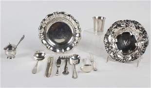 COLLECTION Various Sterling Silver Plate Items